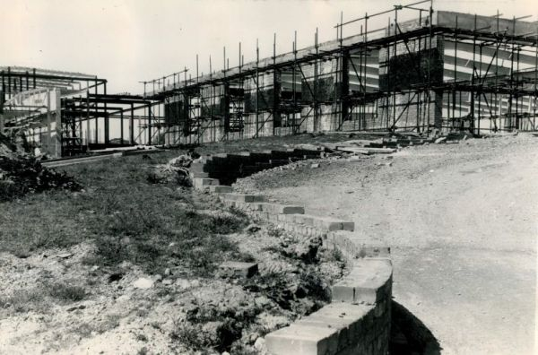 Picture of the College being built